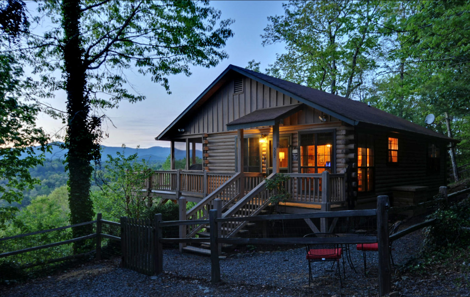 Endless View Cabin In Blue Ridge Mountain Sliding Rock