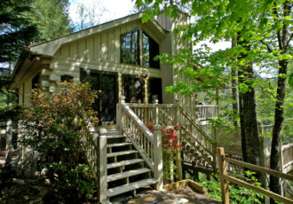 sliding rock cabin