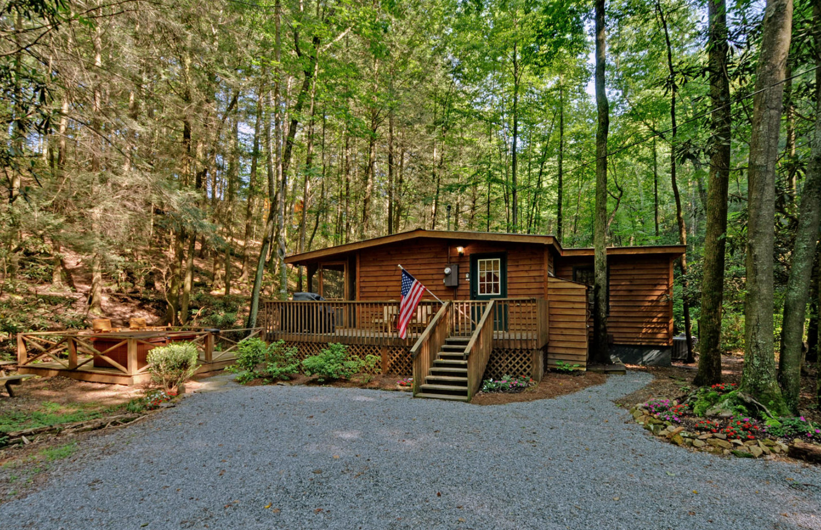 Creekside Serenity Georgia Cabin Rentals Sliding Rock