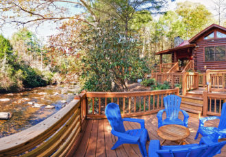 Fenced Yard Cabin Rentals In North Georgia Sliding Rock